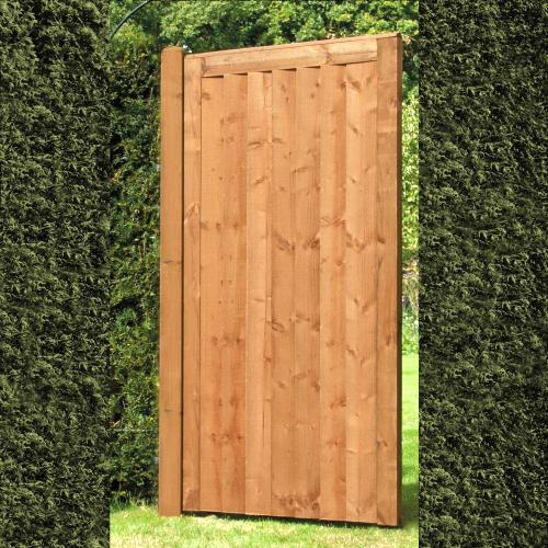 Elite-Featheredge-Brown-Gate