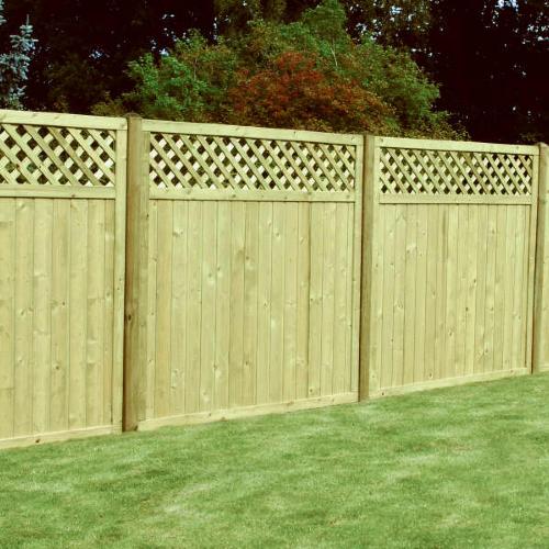 Tongue-Groove-Lattice-Top-Fence-Panel