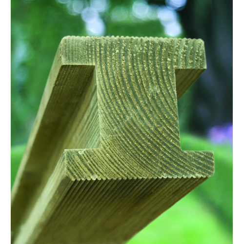 100-x-100-x-2400mm-Planed-Ribbed-Pine-H-Post-Square-both-ends