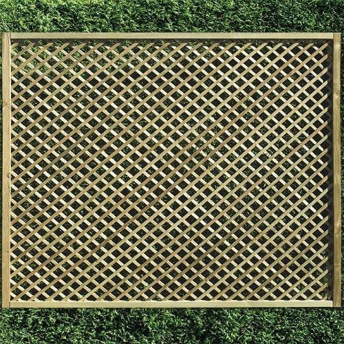 Rectangle-Diamond-Lattice-Fence-Panel