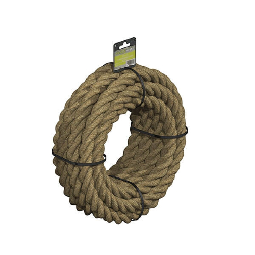 FENCEMATE®-Pre-Coiled-3-Strand-Manila-Rope-28mm-x-12m