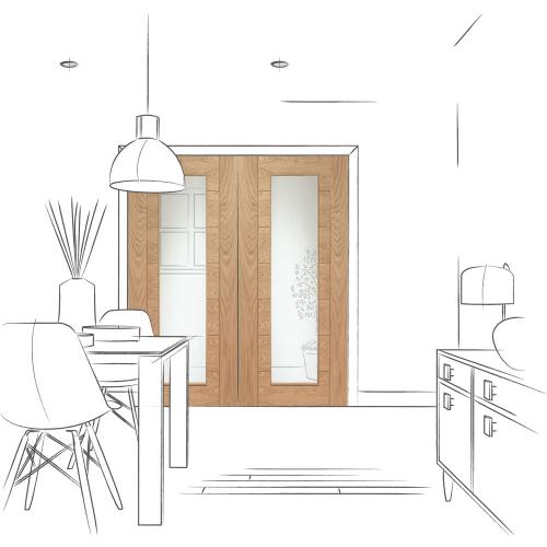 Palermo-Internal-Oak-Rebated-Door-Pair-with-Clear-Glass