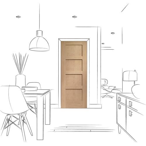 Shaker-4-Panel-Pre-finished-Internal-Oak-Door