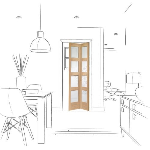 Shaker-Bi-Fold-Internal-Oak-Door-with-Clear-Glass-1936-x-379.5-x-35mm-30