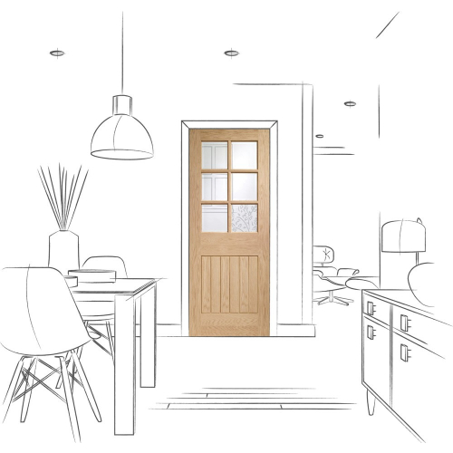 Suffolk-Original-6-Light-Internal-Oak-Door-with-Clear-Bevelled-Glass
